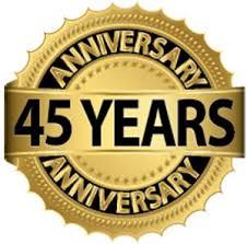 45 years logo